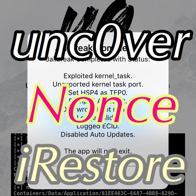 unc0verベータ版がiOS 12上で「Nonce」セットができるようになっ