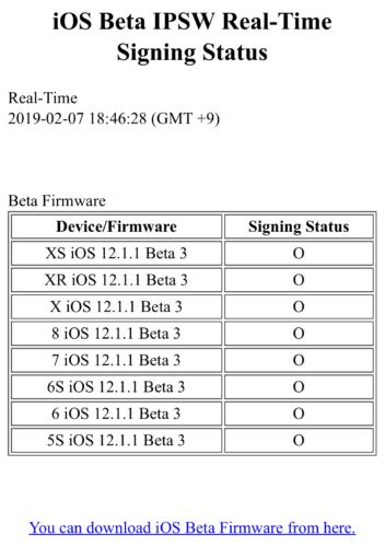 iOS 12 1 1 beta3のSHSHの発行が終了   ZundaHack